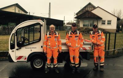 Vorschaubild zur Meldung: Gemeinde Alheim erweitert den Fuhrpark mit einem Elektrofahrzeug
