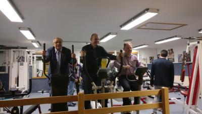 Die Herren Bürgermeister und unser Vorstand beim Training