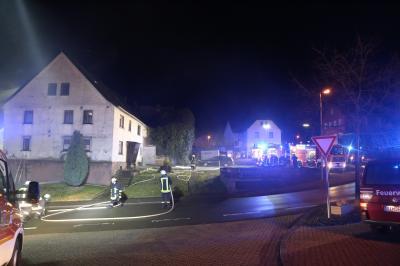 Foto zu Meldung: Simulierter Wohnhausbrand gleich in zwei Objekten