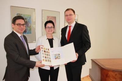 v.l. Angelo Raciti, Annett Jura und André Wormstedt