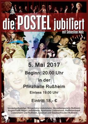 Vorschaubild zur Meldung: Die POSTEL jubiliert am 5. Mai 2017 in der Pfinzhalle Rußheim