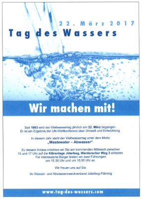 Vorschaubild zur Meldung: Tag des Wassers 2017