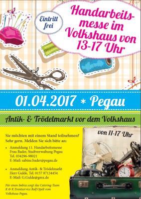Vorschaubild zur Meldung: 1. April Volkshaus  - Handarbeitsmesse & Antik+Trödelmarkt