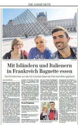 Foto zur Meldung: Mit Isländern und Italienern in Frankreich Baguette essen