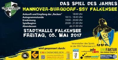 """Handball-Eventspiel: """"Die Recken"""" kommen – Die Bundesligaprofis von Hannover-Burgdorf treffen am 5. Mai auf """"Die Falken"""" vom SSV Falkensee"""