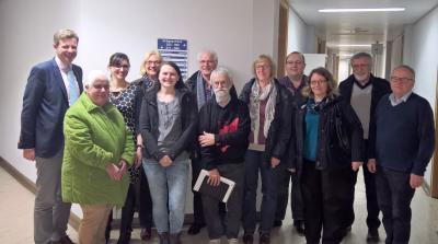 Vorschaubild zur Meldung: Treffen von Landrat Dr. Oliver Bär mit Vertretern der ehrenamtlichen Helferkreise für Geflüchtete