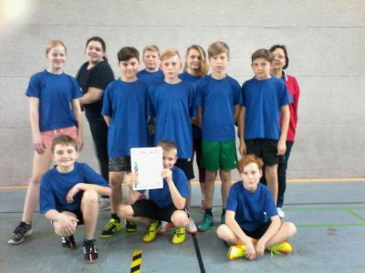 Foto zu Meldung: Unser Zweifelderball-Schulteam im Kreisfinale