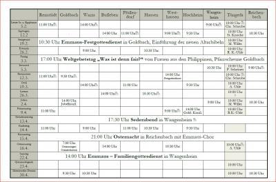 Vorschaubild zur Meldung: Kirchbote 01/2017 und aktuelle Termine Emmausgemeinde