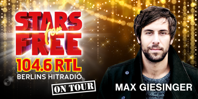 Vorschaubild zur Meldung: STARS for FREE on Tour mit Max Giesinger