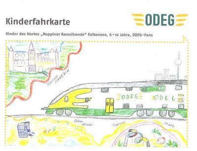 """Foto zur Meldung: """"Ruppiner Rasselbande"""" gestaltet ODEG-Kinderfahrkarte"""