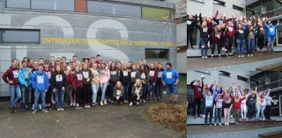 """Foto zur Meldung: Die """"Last 90´s Kids"""" sind los… - Letzter Schultag der IGS-Abiturienten"""