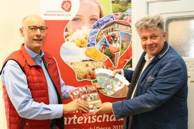 Dr. Thiel und Bürgermeister Jörg Gehrmann (Foto: Stadt Wittstock/Dosse)