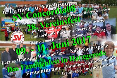 Foto zu Meldung: SV Concordia08 28. Vereinsfest vom 09.-11. Juni 2017