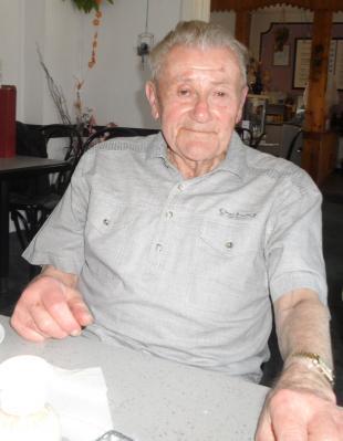 Hans Skupin beim Besuch in Rogätz