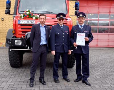 Foto: Torsten Woitera  (v.l.n.r.: Herr Göran Schrey, Herr Ulf Urban und Herr Frank Raum)