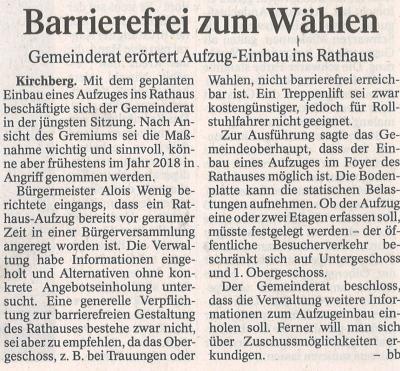 Auszug Der Bayerwald Bote 15.04.2017