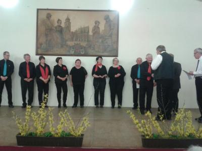 Foto zur Meldung: Ottrauer Gesangverein beim Bundesliederabend