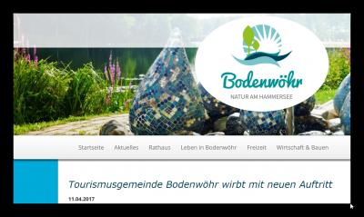 Foto zur Meldung: Gemeinde Bodenwöhr hat neues LOGO