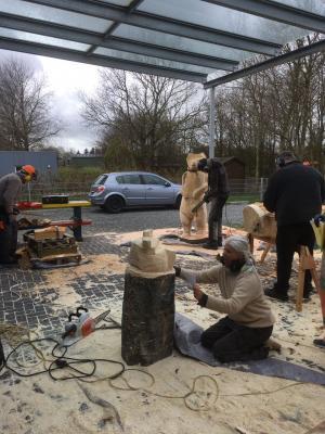 Vorschaubild zur Meldung: Dörpscampus: Frühjahrsakademie der Holzbildhauer