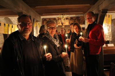 Foto zur Meldung: Osternacht in der Nordhackstedter Kirche