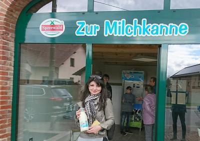 """Milchzapfstelle """"Zur Milchkanne"""" in Reichwalde eröffnet"""