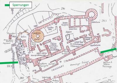 Am 1. Mai öffnet die Dalburg (Umgang weiterhin gesperrt)