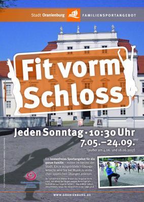 Vorschaubild zur Meldung: Ab 7. Mai: »Fit vorm Schloss« geht in vierte Runde