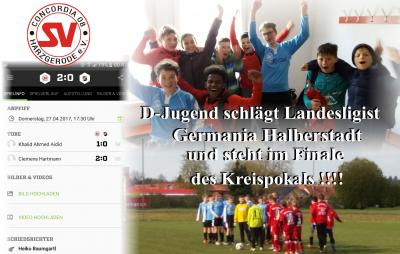 Foto zu Meldung: D-Jugend zieht ins Kreispokalfinale ein und schreibt Vereinsgeschichte