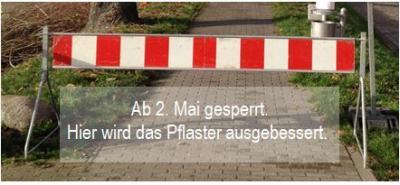 """Vorschaubild zur Meldung: Elbdeich zwischen """"Fährmann"""" und Klärenweg gesperrt"""