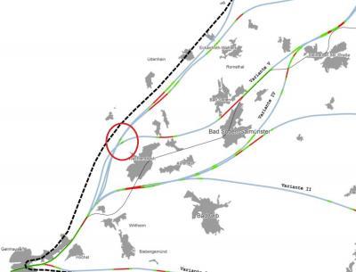 Vorschaubild zur Meldung: Vielzahl von Bahntrassenvarianten weiter in Planung
