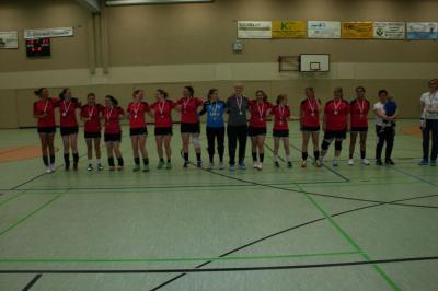 Foto zur Meldung: Die Damen des HSV Falkensee II holen den Meistertitel