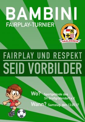 Foto zur Meldung: Mitteilung Jugendausschuss: Bambini-Fair-Play-Turnier am 13.05.