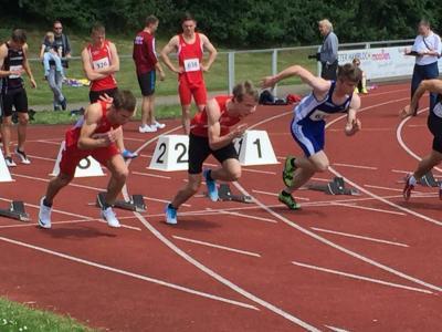Foto zur Meldung: Florian Hamacher schrammt knapp am Kreisrekord vorbei