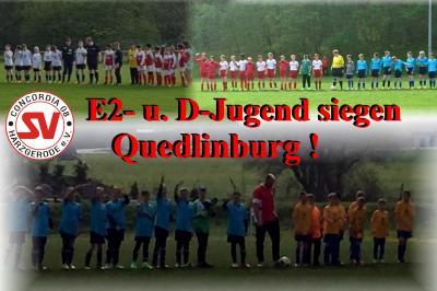 Foto zu Meldung: Doppelsieg der E2- und D-Jugend in Quedlinburg !!!