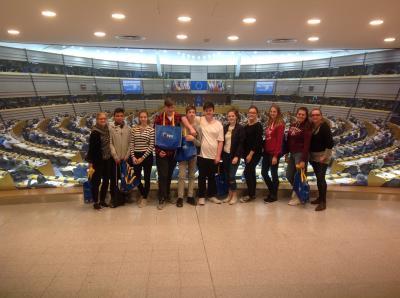 Foto zur Meldung: Besuch im EU-Parlament in Brüssel