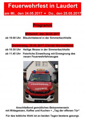Vorschaubild zur Meldung: Feuerwehrfest am 24. und 25. Mai