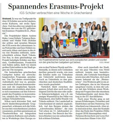 Foto zur Meldung: Spannendes Erasmus-Projekt