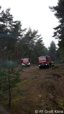Foto zur Meldung: 13.05.2017 Geländefahrtraining LKW im Wald bei Tornow