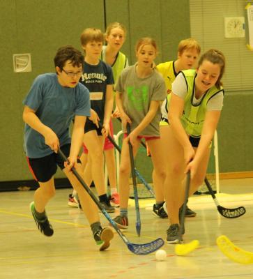 Foto zur Meldung: Schulinternes Floorballturnier