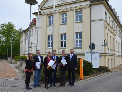 Foto zur Meldung: Kreisverwaltung OSL begrüßt vier neue Auszubildende