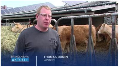 Vorschaubild zur Meldung: Junglandwirt Thomas Domin in Brandenburg AKTUELL