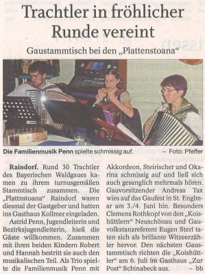 Auszug Der Bayerwald Bote 17.05.2017