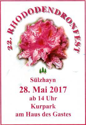 Vorschaubild zur Meldung: Rhododendronfest am 28. Mai 2017 – Magnet im Sülzhayner Veranstaltungskalender
