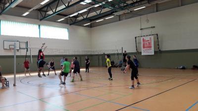 Foto zur Meldung: Volleyball am Volkssporttag