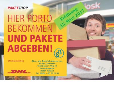 """Foto zu Meldung: Paketshop eröffnet """"Neues Angebot der Deutschen Post DHL Group"""""""