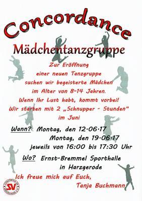 Foto zur Meldung: Schnupper- Tanzen bei Concordia08 !