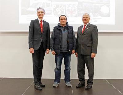 von links: Richard Knorr, Christian Schertel und Peter Herzing