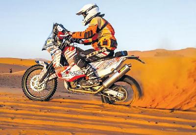 Foto zur Meldung: Stefan Kleine: 2.500 Kilometer durch die Wüste