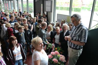 Foto zur Meldung: Hans-Günter Schubert mit Brandenburgischem Lehrerpreis 2017 ausgezeichnet