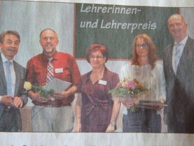 Foto zur Meldung: Brandenburgischer Lehrerpreis geht an Frau Groth